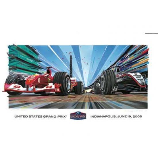 US Grand Prix 2005 Lithograph