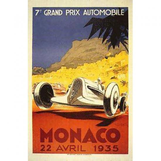 Monaco Grand Prix Race 1935 Poster