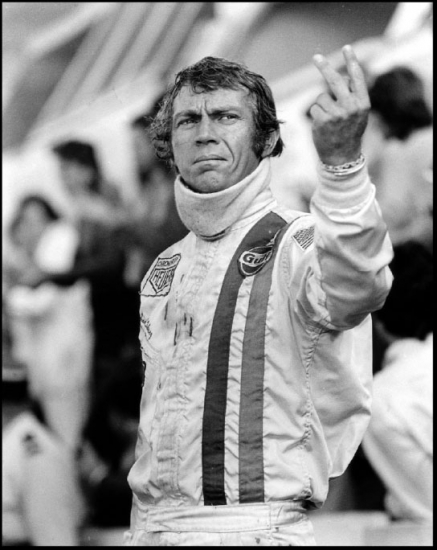 Steve McQueen Two Finger Salute Poster