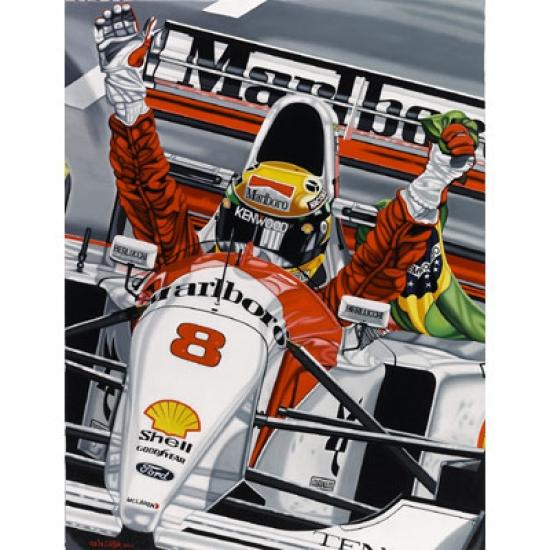 Ayrton Senna Last Victory Lithograph