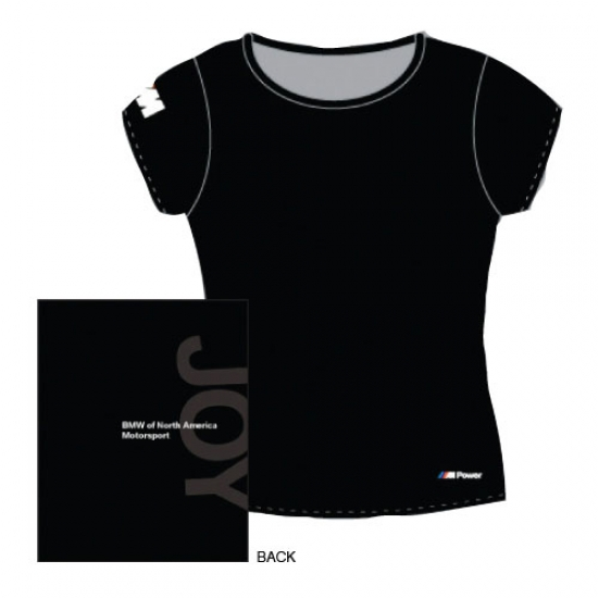 BMW M Ladies Black Joy Tee Shirt