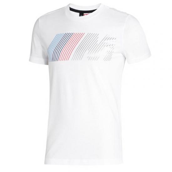 BMW M Puma White Logo Tee Shirt