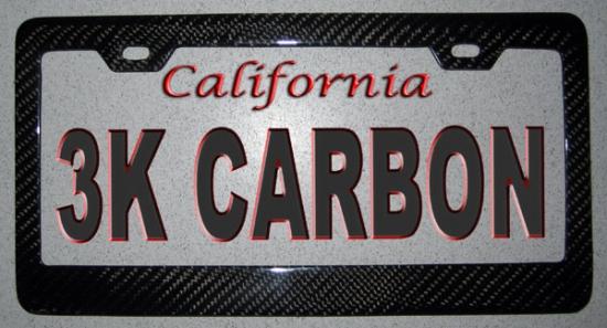 Carbon Fiber Car License Plate Frame