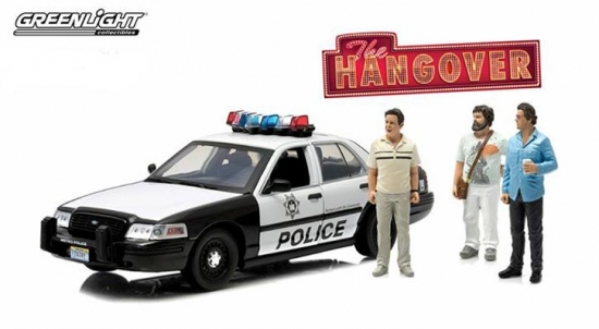 2000 Ford Crown Victoria Police Interceptor The Hangover with Figures