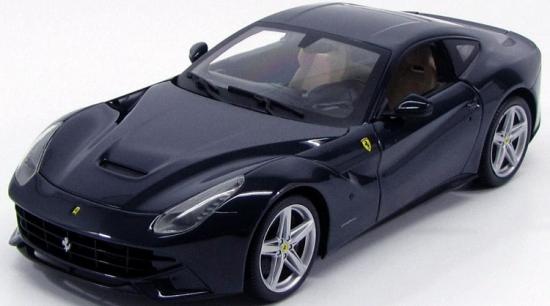 Ferrari F12 Berlinetta Blue Pozzi Hotwheels 1:18th Model