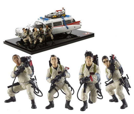 Ghostbusters ECTO-1 30th Anniversary w/Figures 1:18th Hotwheels Elite