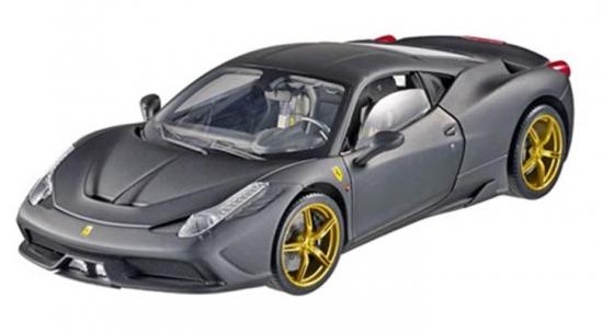 Ferrari 458 Italia Speciale Matt Black Hotwheels Elite 1:18th