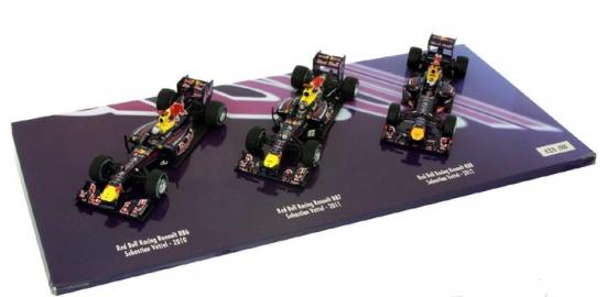 Sebastian Vettel Red Bull Racing 3 Car Champ Set 1:43rd