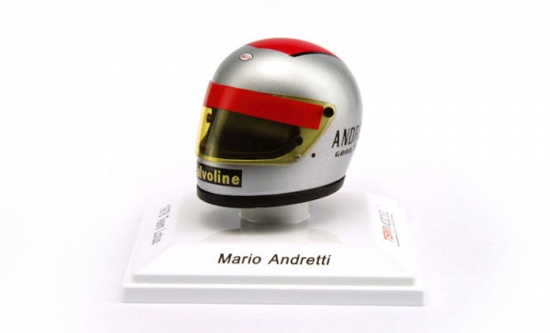 Mario Andretti Team Lotus F1 1977 Replica Helmet 1:8th Scale
