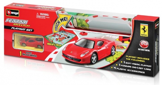 Ferrari Race and Play Playmat Bburago 1:43