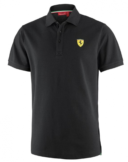 Ferrari Black Classic Shield Polo Shirt