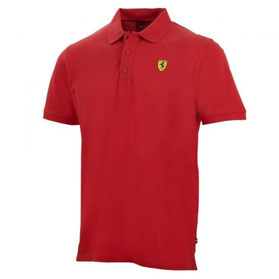Ferrari Red Classic Shield Polo Shirt