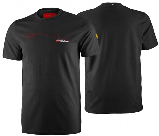 Ferrari Black Graphic Car Tee Shirt