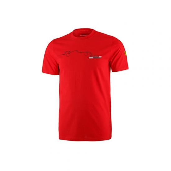 Ferrari Red Graphic Car Tee Shirt