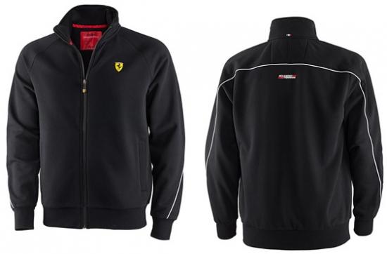 Ferrari Black Shield Zip Sweatshirt