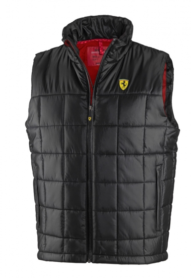 Ferrari Black Shield Padded Vest