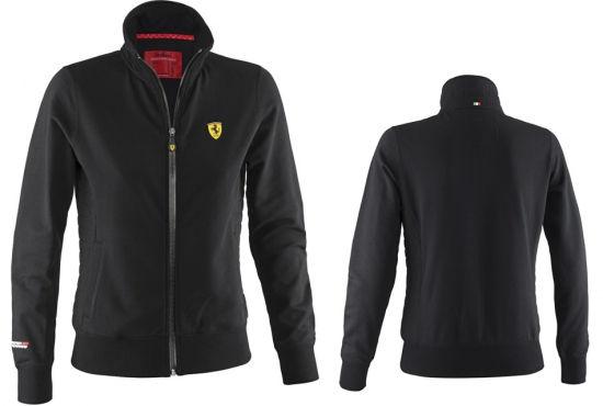 Ferrari Ladies Black Zip Sweatshirt