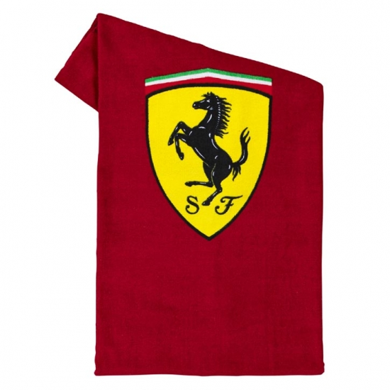 Ferrari Scuderia Red Shield Towel