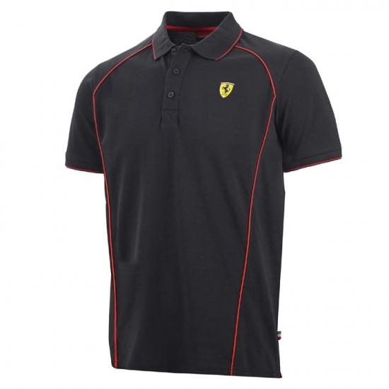 Ferrari Black Track Polo Shirt