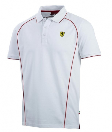 Ferrari White Track Polo Shirt