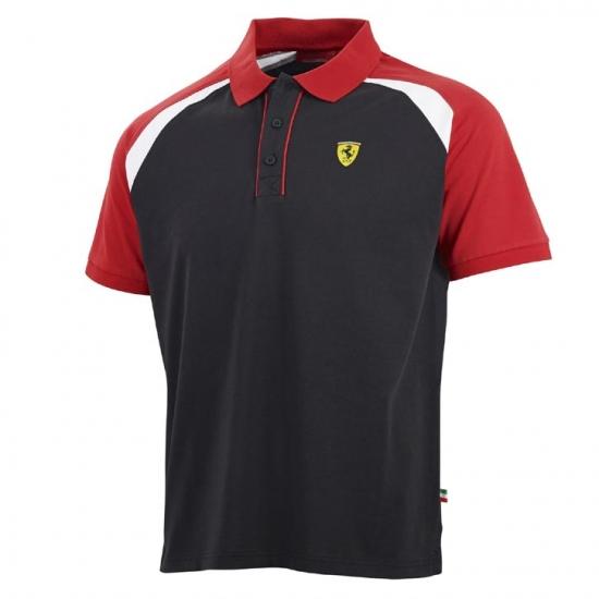 Ferrari Black Shield Race Polo Shirt