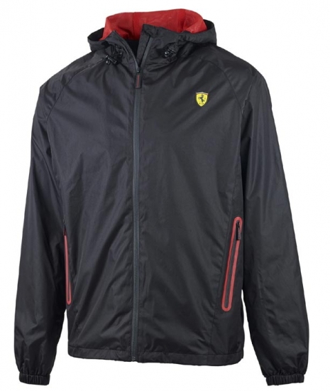 Ferrari Black Shield Windbreaker Jacket