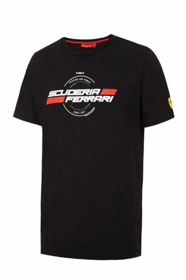 Ferrari Black Since 1947 Tee Shirt