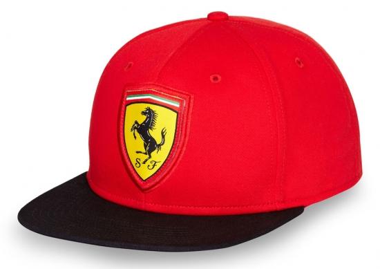 Ferrari Red Flatbrim Shield Hat