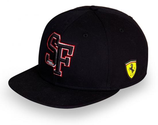 Ferrari Black SF Flatbrim Hat