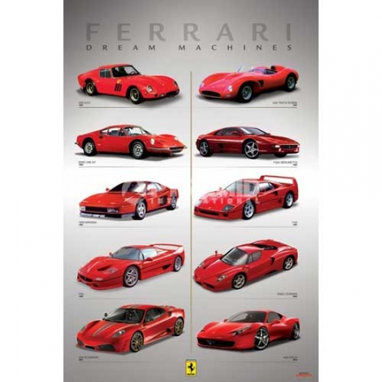 Ferrari GT Dream Machines Poster