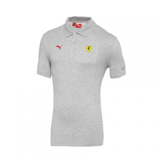Puma Ferrari Gray SF Shield Polo Shirt