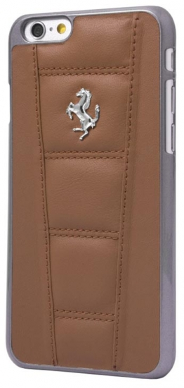 Ferrari 458 iPhone 6/6S Camel Leather Case