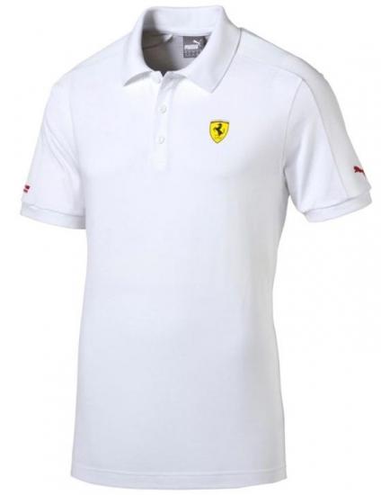 Puma Ferrari White SF2 Polo Shirt