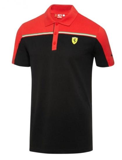 Puma Ferrari Black SF Polo Shirt