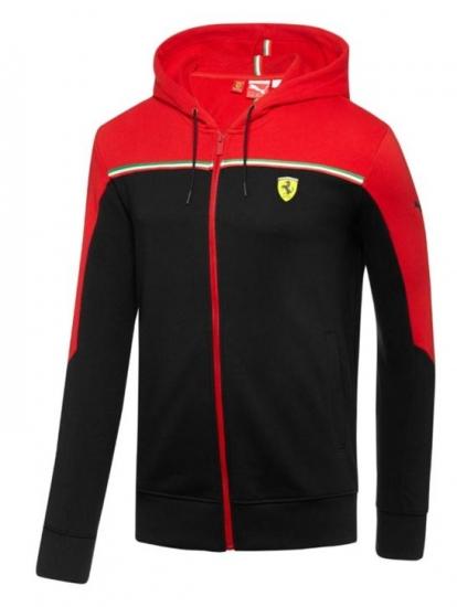 Puma Ferrari Black SF Sweat Jacket