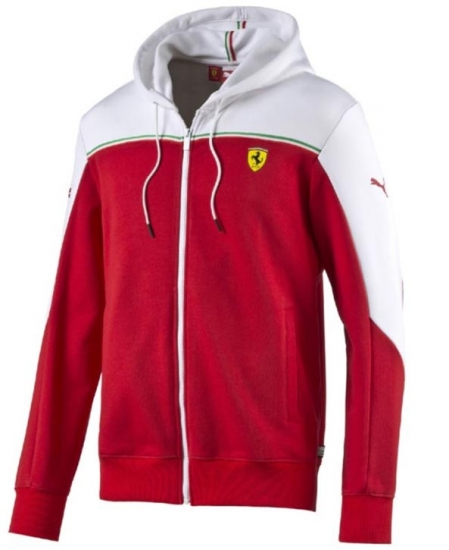 Puma Ferrari Red SF Sweat Jacket