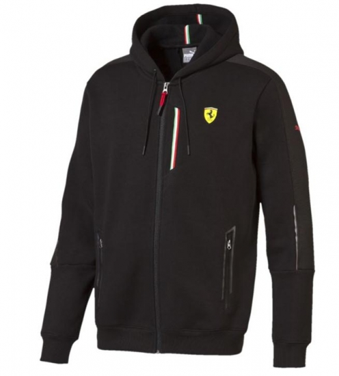 Puma Ferrari Black SF2 Sweat Jacket