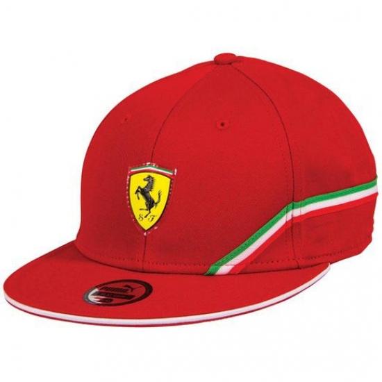 Puma Ferrari Red SF Flat Brim Hat