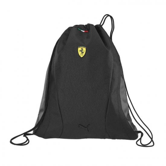 Puma Ferrari Black Replica Team Drawstring Bag
