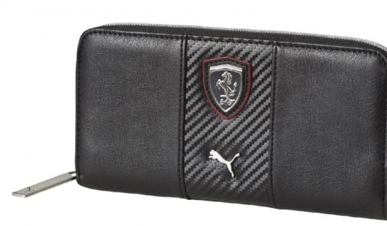 Puma Ferrari Black LS Ladies Wallet