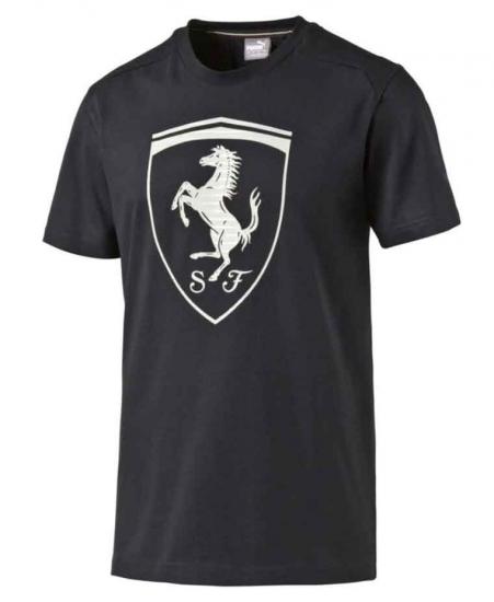 Puma Ferrari Black Big Shield Tee