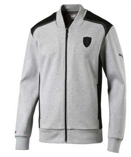 Puma Ferrari Grey Sweat Jacket