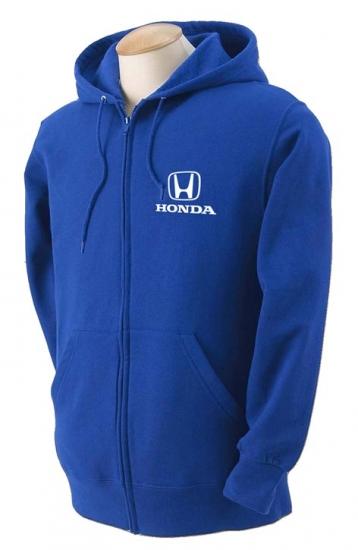 Honda Royal Hooded Full Zip Sweatshirt