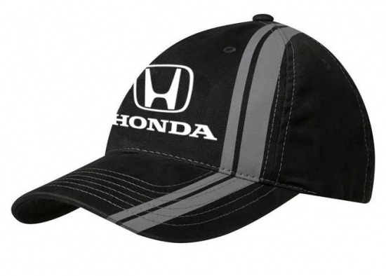 Honda Black Racing Stripes Hat