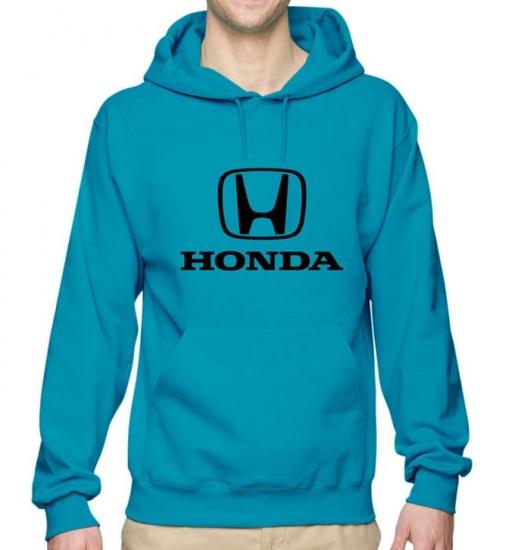 Honda Turquoise Hooded Sweat Shirt