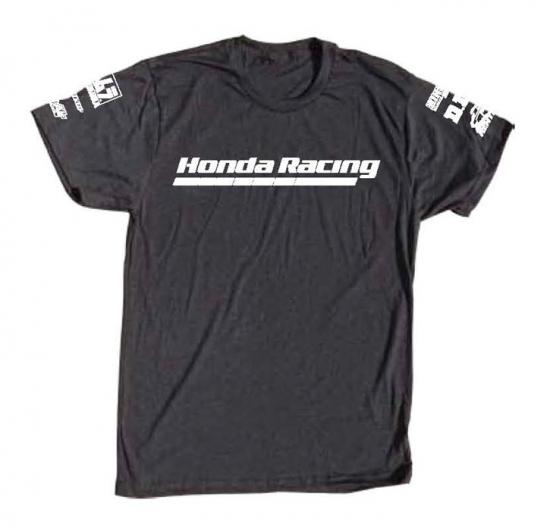 Honda Racing Black Tri-Blend Sponsor Tee