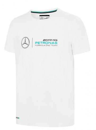 Mercedes AMG F1 White Logo Tee Shirt