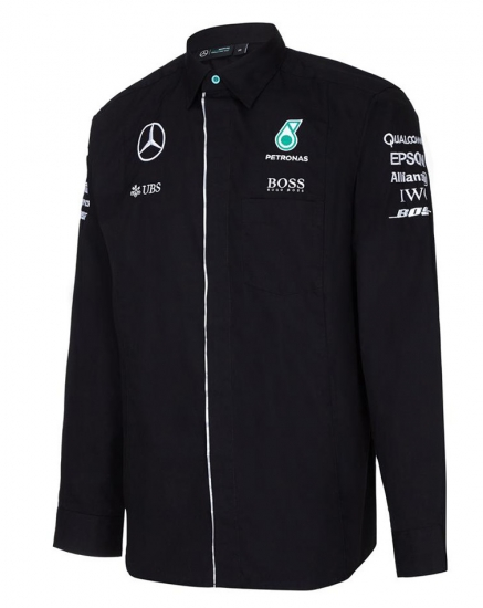 Mercedes AMG F1 Long Sleeve Crew Shirt