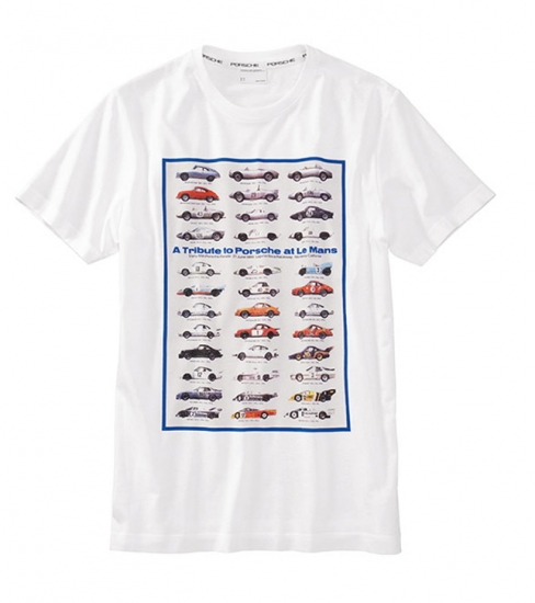 Porsche White Tribute Tee Shirt
