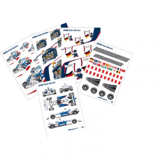 BMW Sauber F1 Wall Sticker Set
